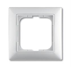 Рамка 1-постовая, серия Basic 55, цвет альпийский белый - фото 110552