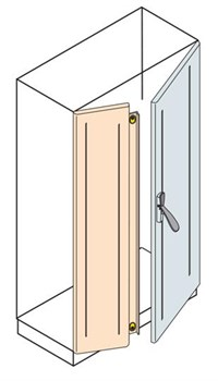 Дверь с перекрытием 2000x600мм ВхШ - фото 131679