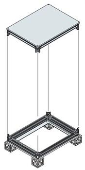 Рама шкафа верхняя/нижняя 1000x500ШхГ - фото 131865