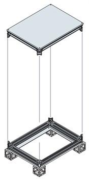Рама шкафа верхняя/нижняя 600X400ШхГ - фото 131887