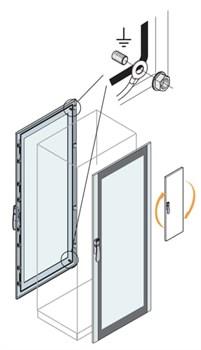 Дверь со стеклом 2000x800мм ВхШ - фото 132047