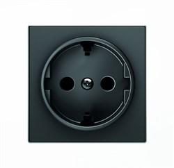 Накладка для розетки SCHUKO, серия SKY, цвет чёрный бархат - фото 137680