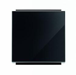 Клавиша для 1-клавишных выключателей/переключателей/кнопок, серия SKY, цвет стекло чёрное - фото 137696