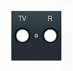 Накладка для TV-R розетки, серия SKY, цвет чёрный бархат - фото 137806