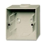 Коробка для открытого монтажа, 1-постовая, серия Basic 55, цвет шампань