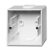 Коробка для открытого монтажа, 1-постовая серия Basic 55, цвет альпийский белый