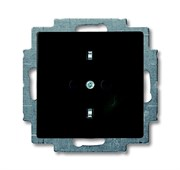 Розетка SCHUKO 16А 250В, с винтовыми клеммами, серия Basic 55, цвет ch?teau-black