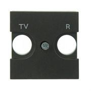Накладка для TV-R розетки, 2-модульная, серия Zenit, цвет антрацит