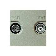 Розетка TV-R-SAT оконечная с накладкой, серия Zenit, цвет шампань