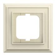 Рамка 1-постовая, серия Династия, цвет слоновая кость