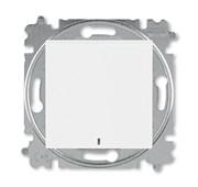 Переключатель одноклавишный с подсветкой ABB Levit ориентационная белый / белый