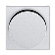 Накладка ABB Levit для светорегулятора поворотного серебро / дымчатый чёрный