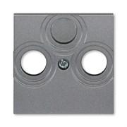 Накладка ABB Levit для розеток TV-R / TV-R-SAT сталь