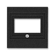 Накладка ABB Levit для розеток USB / HDMI / VGA антрацит