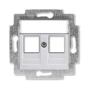 Накладка с суппортом ABB Levit для информационных разъёмов серебро