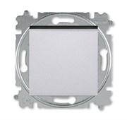 Переключатель перекрёстный одноклавишный ABB Levit серебро / дымчатый чёрный