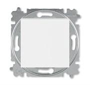 Выключатель кнопочный одноклавишный ABB Levit белый / ледяной