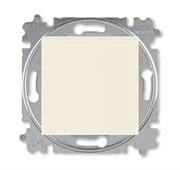 Выключатель кнопочный одноклавишный ABB Levit слоновая кость / белый