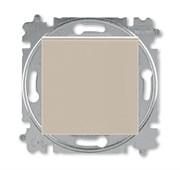 Выключатель кнопочный одноклавишный ABB Levit кофе макиато / белый