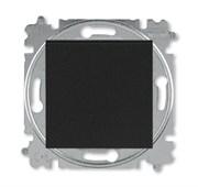 Выключатель кнопочный одноклавишный ABB Levit антрацит / дымчатый чёрный