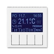 Терморегулятор ABB Levit универсальный программируемый белый / ледяной