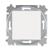 Выключатель кнопочный одноклавишный ABB Levit жемчуг / ледяной
