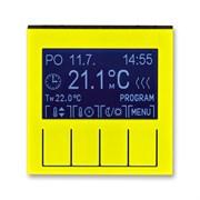 Терморегулятор ABB Levit универсальный программируемый жёлтый / дымчатый чёрный