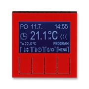 Терморегулятор ABB Levit универсальный программируемый красный / дымчатый чёрный