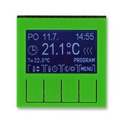 Терморегулятор ABB Levit универсальный программируемый зелёный / дымчатый чёрный