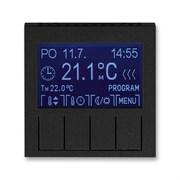 Терморегулятор ABB Levit универсальный программируемый антрацит / дымчатый чёрный
