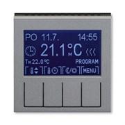 Терморегулятор ABB Levit универсальный программируемый сталь / дымчатый чёрный