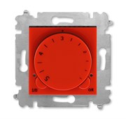 Терморегулятор ABB Levit с поворотной ручкой 16А красный / дымчатый чёрный