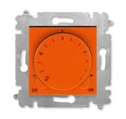 Терморегулятор ABB Levit с поворотной ручкой 16А оранжевый / дымчатый чёрный