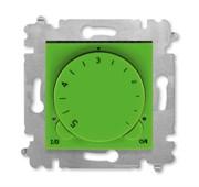 Терморегулятор ABB Levit с поворотной ручкой 16А зелёный / дымчатый чёрный