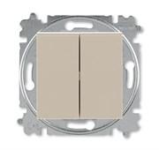 Переключатель и кнопка с перекидным контактом ABB Levit кофе макиато / белый