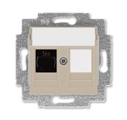 Розетка информационная ABB Levit RJ45 категория 5e и заглушка кофе макиато