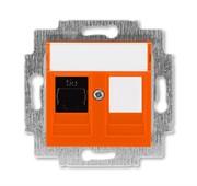 Розетка информационная ABB Levit RJ45 категория 5e и заглушка оранжевый