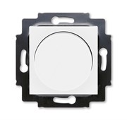 Светорегулятор ABB Levit поворотно-нажимной 60-600 Вт R белый / ледяной