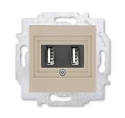 USB зарядка двойная ABB Levit кофе макиато