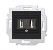 USB зарядка двойная ABB Levit антрацит
