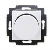 Светорегулятор ABB Levit поворотно-нажимной 60-600 Вт R белый / дымчатый чёрный