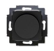 Светорегулятор ABB Levit поворотно-нажимной 60-600 Вт R антрацит / дымчатый чёрный