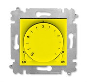 Терморегулятор ABB Levit с поворотной ручкой 16А жёлтый / дымчатый чёрный