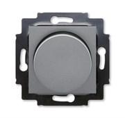 Светорегулятор ABB Levit поворотно-нажимной 60-600 Вт R сталь / дымчатый чёрный