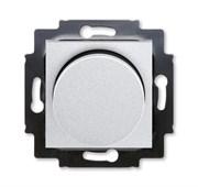 Светорегулятор ABB Levit поворотно-нажимной 60-600 Вт R серебро / дымчатый чёрный