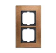 Рамка 2-постовая, серия Carat, бронза