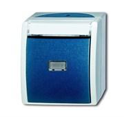Кнопка 1-клавишная, нормально-открытый контакт, с 2-мя независимыми сигнальными контактами, IP44, для открытого монтажа, серия ocean
