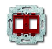 Суппорт для 2-х разъёмов фирм AMP / tyco Electronics, BTR, EFB, KRONE, RADIALL, Setec, с красным цоколем, без монтажных лапок