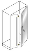 Створка двойной двери,нерж.ст 1800x600мм
