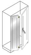 Дверь с перекрытием,нерж.ст.1800x600 ВхШ